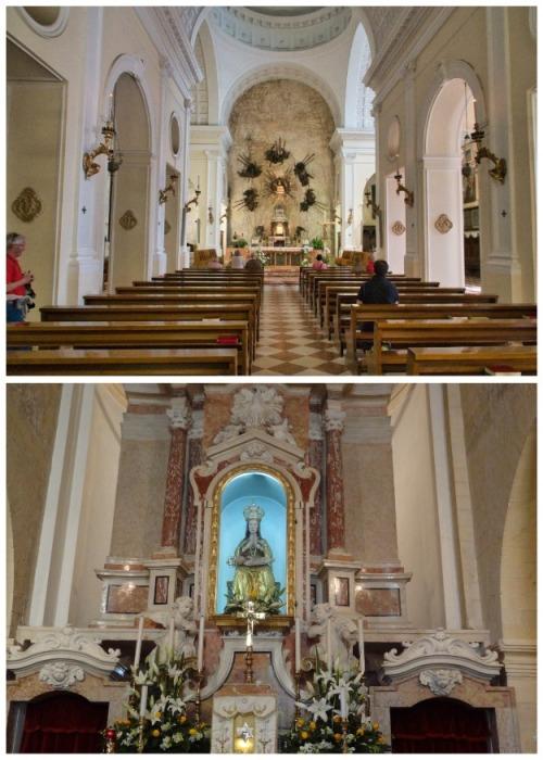 Центральный зал для литургий (Santuario Madonna della Corona). | Фото: parrocchiadibelfiore.it.