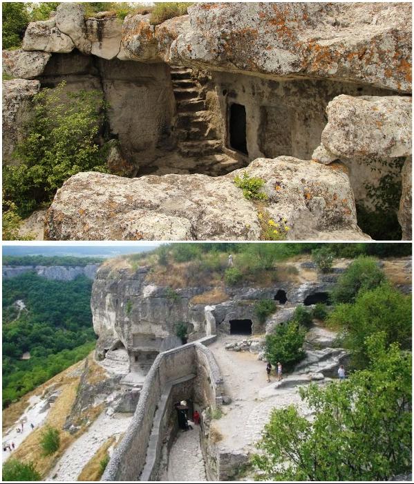 В Крыму сохранилось очень много пещерных поселений, правда их посещают только туристы. | Фото: livepohod.blogspot.com/ vprokate.su.