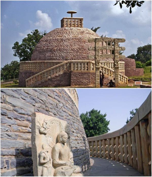 Великая Sanchi Stupa – памятник раннебуддийской архитектуры. | Фото: mysterylife.ru.