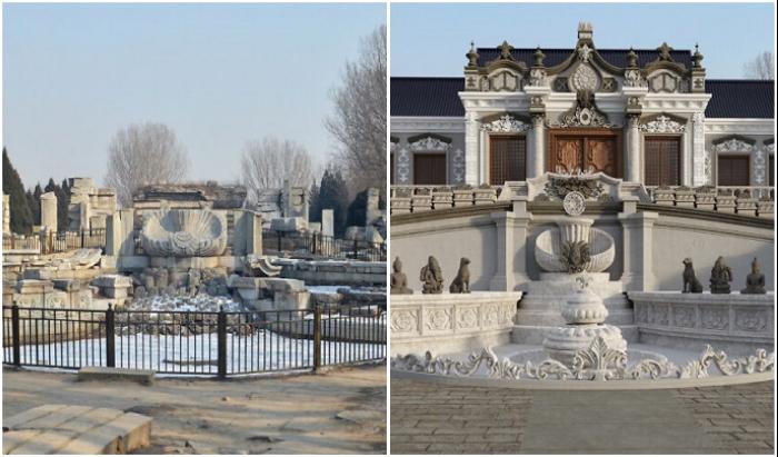 Коллектив специалистов с помощью проектирования смогли вернуть былую красоту дворцово-парковому комплексу Юаньминъюань, хоть и на фотографии (Китай).