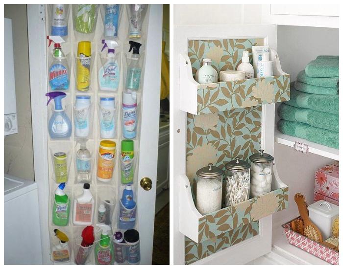 Внутреннюю поверхность любых дверей можно использовать для хранения всевозможных предметов и вещей.