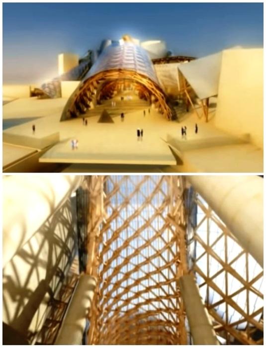 Уникальное строение музея больше похоже на скульптурный комплекс из геометрических фигур, созданных из бетона и стекла. | Фото: youtube.com.