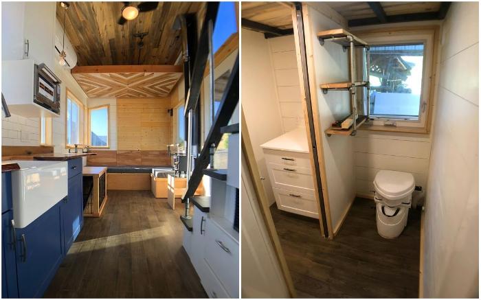 В этом крошечном мобильном доме можно жить даже в лютые морозы (Timberwolf 24', Миннесота).