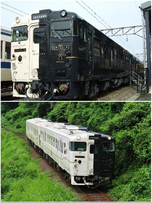 Черно-белый поезд, символизирующий воду и горы, имеет еще одно название – его называют «Ибутама». | Фото: pikabu.ru.