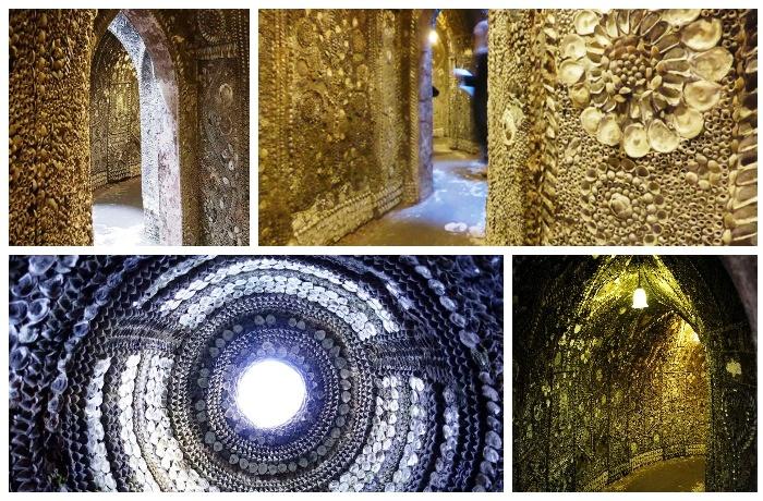 Система тоннелей и комнат символизирует этапы человеческой жизни и пути к вечности (Margate Shell Grotto).