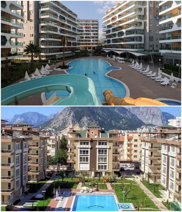 На территории новых жилых комплексов есть общие зоны отдыха и бассейн. | Фото: delo.ua/ amestate.com.ua.