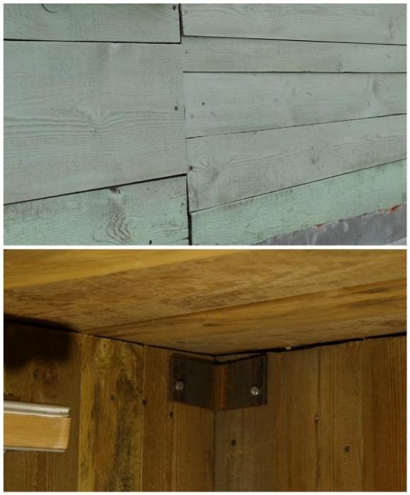 Как из внутренней, так и с внешней стороны дом был из дерева (д. Зарытки, Рязанская обл.). | Фото: youtube.com/ FORUMHOUSE.