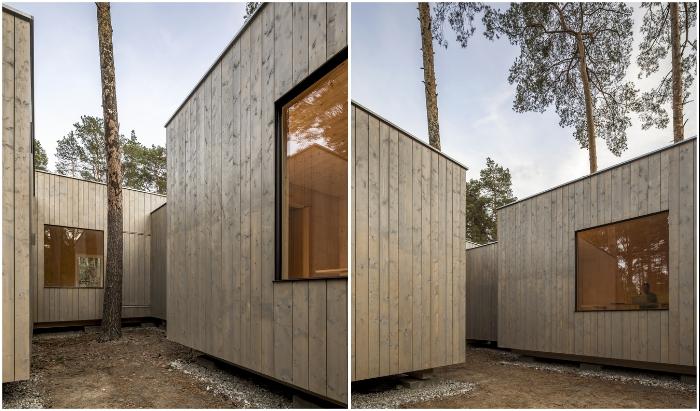 Специалисты архитектурной студии Zeller & Moye филигранно обошли каждую сосну, создавая уникальный проект (Haus Koeris, Германия). © Zeller & Moye.