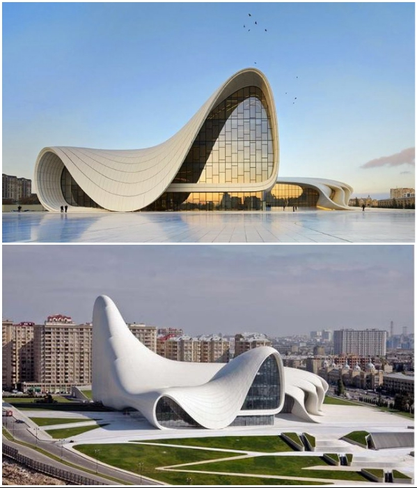 Центр Гейдара Алиева (Баку) от легендарной Захи Хадид является одним из первых произведений архитектуры, созданных с применением искусственного интеллекта. | Фото: paramount-mice.com/ archspeech.com.