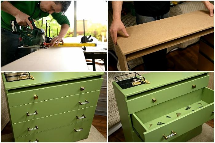 Стильный дизайнерский комод можно сделать своими руками. | Фото: youtube.com / © My DIY life.