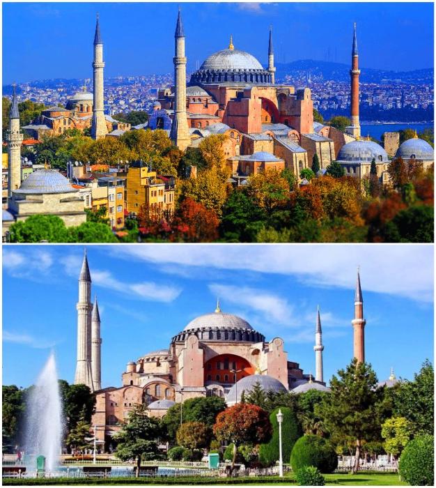 Собор Святой Софии: история развития духовного объекта, пережившего империи и смену религий (Стамбул, Турция).
