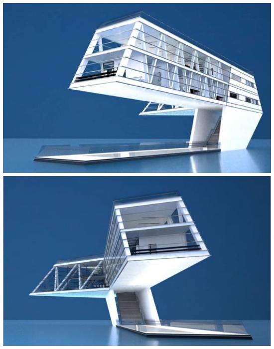 Консольный House on the Wate является самодостаточным и полностью автономным жилым комплексом (Греция).