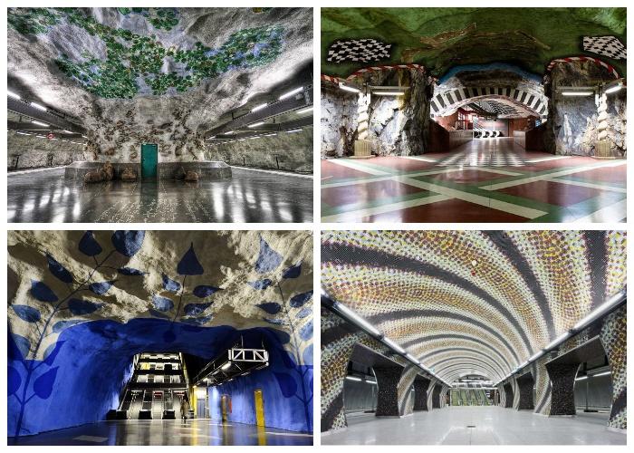 Самые необыкновенные станции метрополитена Стокгольма (Швеция).