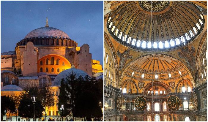 Купол величественного храма до сих пор вызывает восхищение и удивление специалистов (Hagia Sophia, Стамбул).
