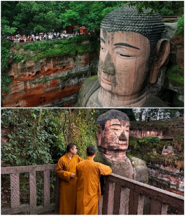 Лунный мост Haoshang приведет к самой большой статуе Будды в мире (Эмэйшань, Китай). | Фото: globustur.spb.ru/ pxhere.com.