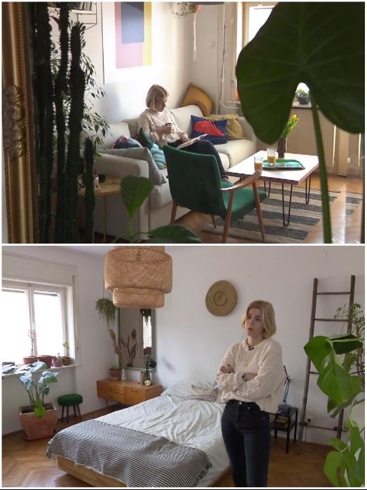 Нине удалось создать интерьер, в котором гармонично сочетается старая мебель и современный дизайн. | Фото: dominvrt.si.