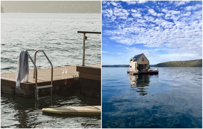 Желающие могут поплавать непосредственно в водоеме («LilyPad Palm Beach Villa», Австралия).   Фото: everydayobject.us/ © Ian Davidson.