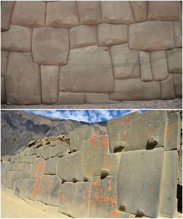 Стены, которые сделали инки, еще несколько тысяч лет назад сохранились в идеальном состоянии (Ольянтайтамбо, Перу). | Фото: travelask.ru.