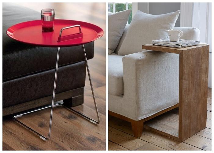 Приставной столик идеально впишется в любой интерьер.