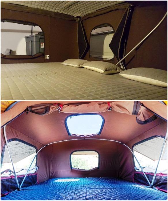 Палатка iKamper Hardtop One оснащена специальным матрасом и антимоскитными сетками на окнах. expeditionportal.com.