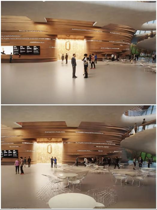Театр должен превратиться в культурный центр (проект Академического театра оперы и балета, Пермь). | Фото: youtube.com/ © Perm Opera Ballet Theatre.