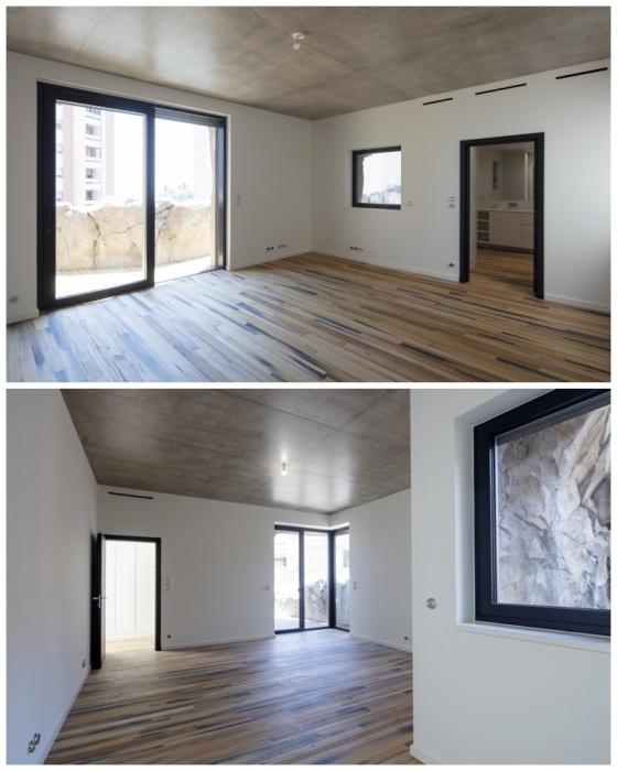 В особняке создали три огромных спальни, в каждой из которых есть своя ванная комната и балкон («Villa Troglodyte», Монако). | Фото: newatlas.com.