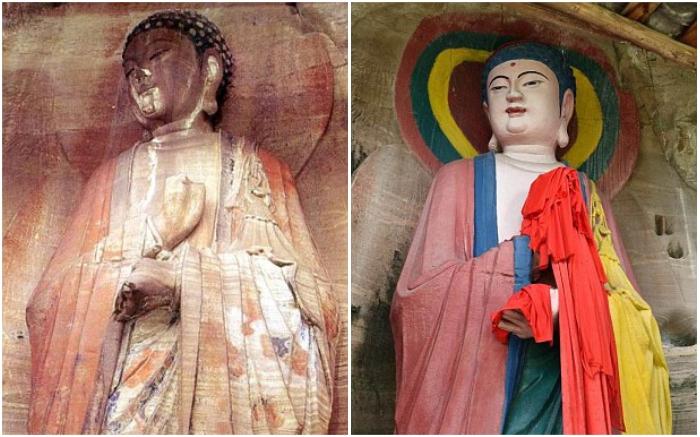 Это кем надо быть, чтобы испортить древнюю статую до такой степени? | Фото: dailymail.co.uk.