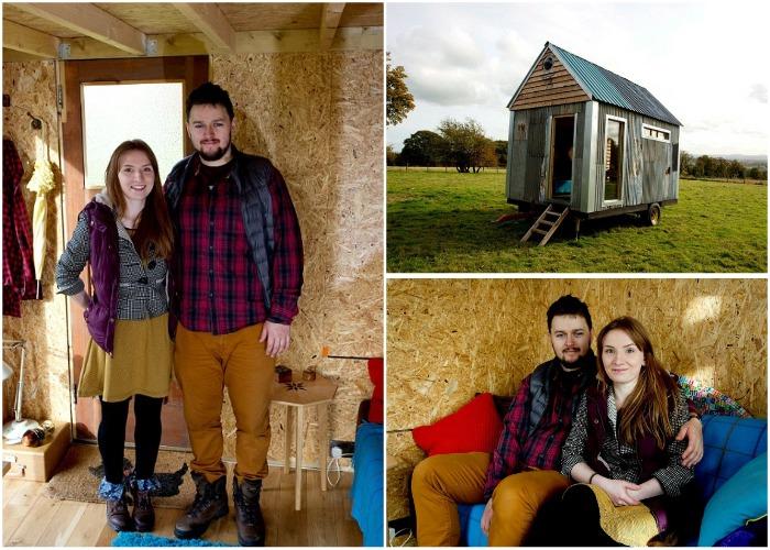 Молодая пара счастлива в маленьком, уютном доме, который создали собственными руками.