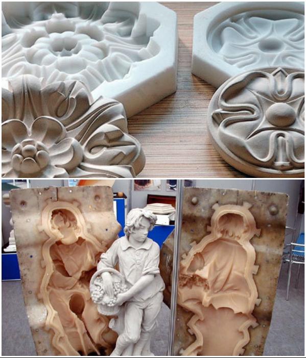Имея силиконовые формы, не нужно быть скульптором, чтобы создавать шедевры. | Фото: nzmetallspb.ru.