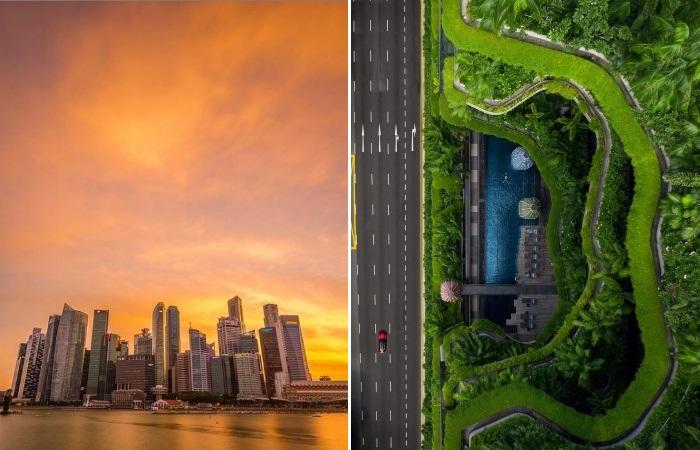Разительные контрасты Сингапура (респ. Сингапур). instagram.com/ Lee Mumford.