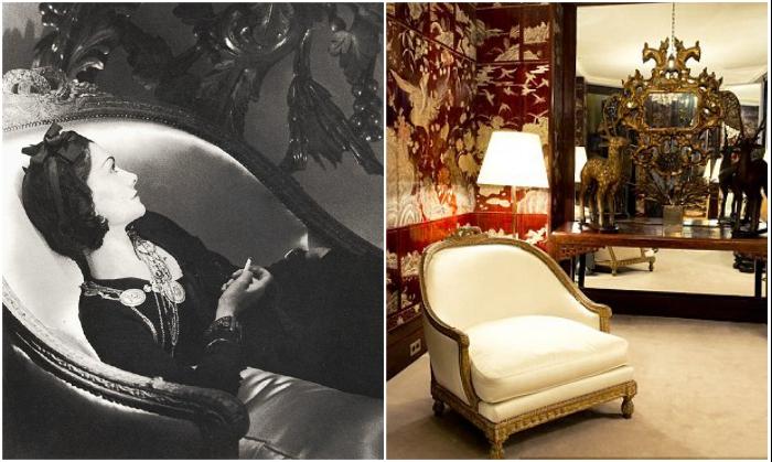 Роскошная антикварная мебель до сих пор украшает квартиру Коко Шанель (Париж, Франция). | Фото: shop.rivegauche.ru/CHANEL
