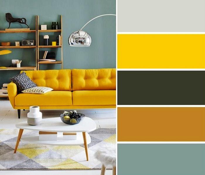 Жизнерадостная и аппетитная цветовая палитра стиля mid-century modern. | Фото: pinterest.com.