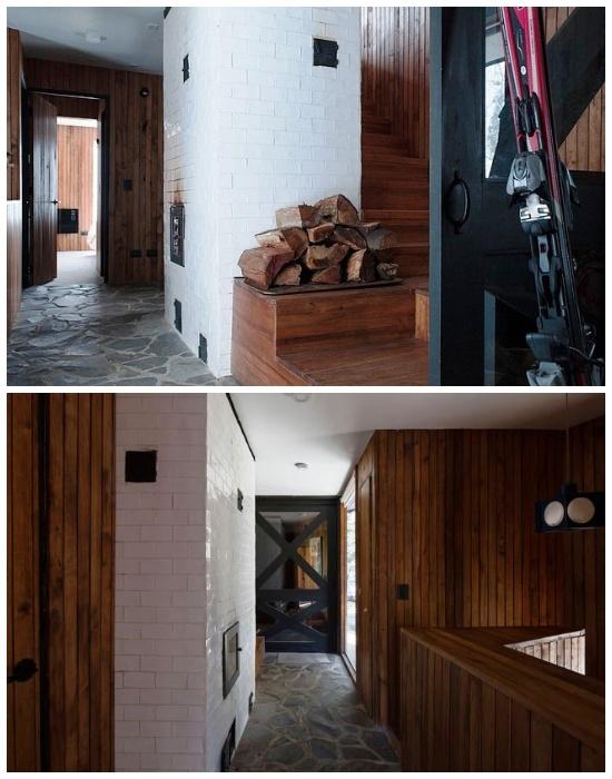 Дом обогревают с помощью дровяной печи, построенной по старинной технологии (проект DRAA, Чили).