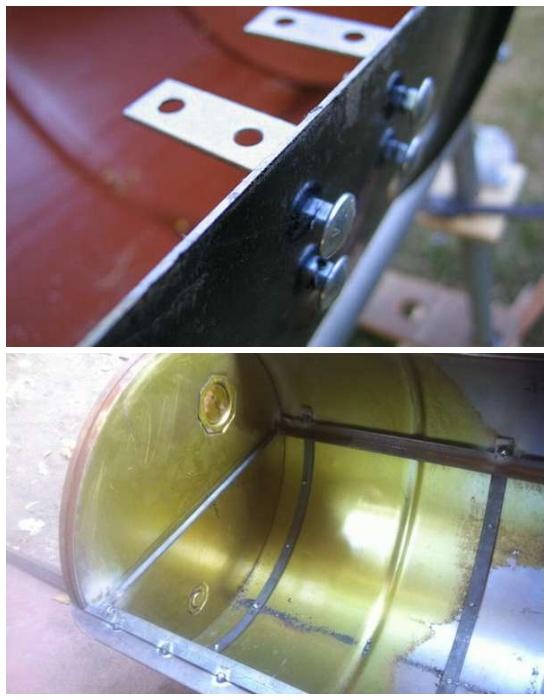 Решетку можно устанавливать как на кронштейны, так и на специально сделанную раму.