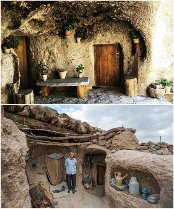 Мейманд – древнее иранское селение, высеченное вручную в скале. sanaei.livejournal.com.