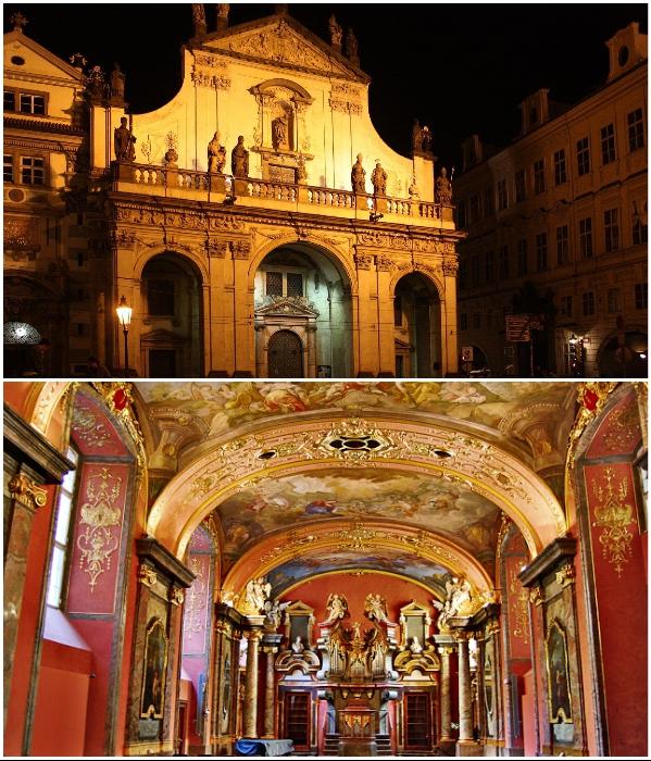 Зеркальная часовня была спроектирована архитектором Килианом Игнацом Динценхофером (Клементинум, Прага). | Фото: twinshotel.blogspot.com.