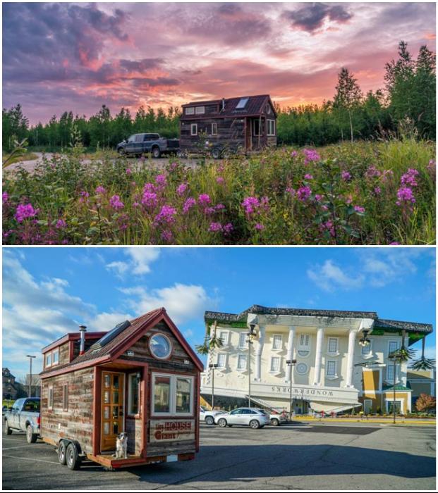 Вместо карьеры офисных работников Дженн и Гийом нашли себя в творческих профессиях, путешествуя по Северной Америке со своим домом Tiny House Giant.