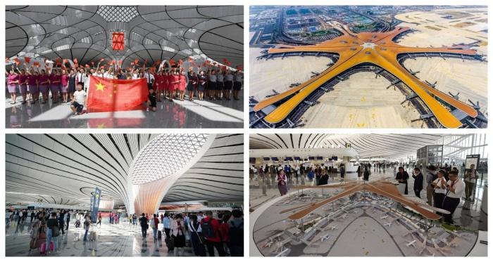 Проект Zaha Hadid Architects стал победителем в 5 номинациях на звание «Самый-самый» (Daxing International Airport, Пекин). | Фото: ukrinform.ru.
