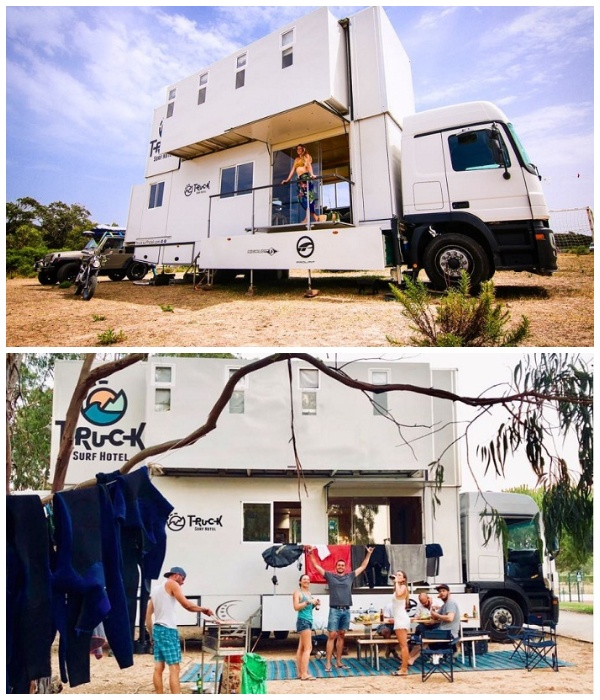 На стоянках всегда можно организовать незабываемый пикник (Truck Surf Hotel).
