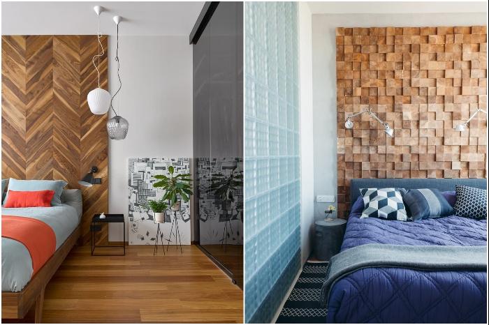 В небольших квартирах с помощью дерева лучше делать только акценты. | Фото: design-homes.ru.