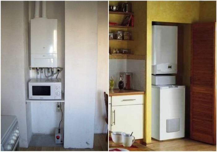 Если есть возможность, то газовое оборудование можно спрятать в кладовку или нишу. | Фото: svoimy-rukami.ru.