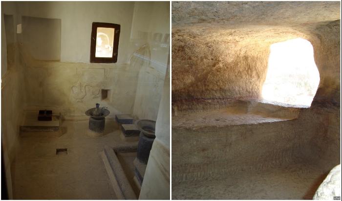 Баня и туалетная комната имама в замке на скале («Dar al-Hajar», Йемен).