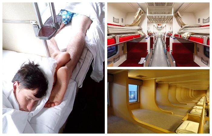 Так выглядят спальные вагоны в разных странах.