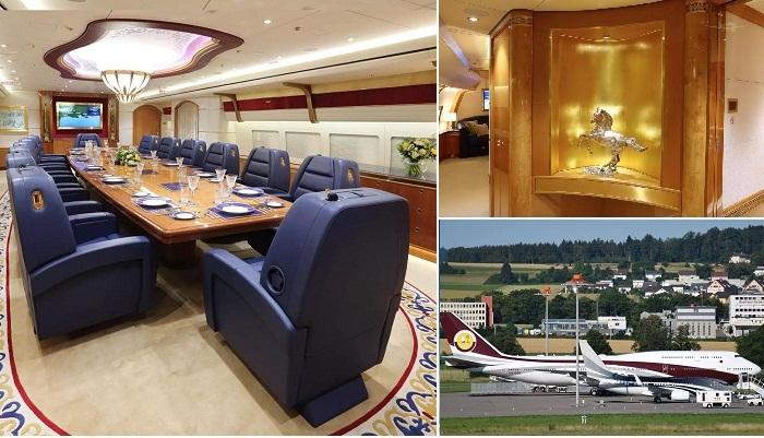 «Золотой» самолет эмира Катара Тамим бин Хамада Аль Тани.