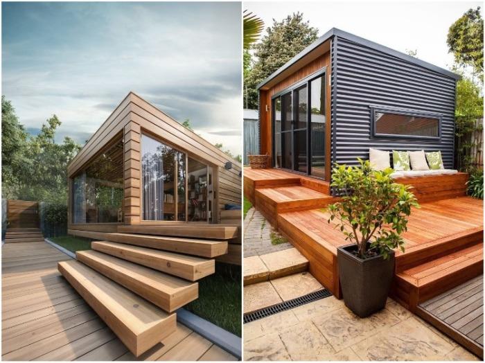 Если позволяет площадь, лучше создавать комбинированные зоны отдыха. | Фото: domnomore.com.