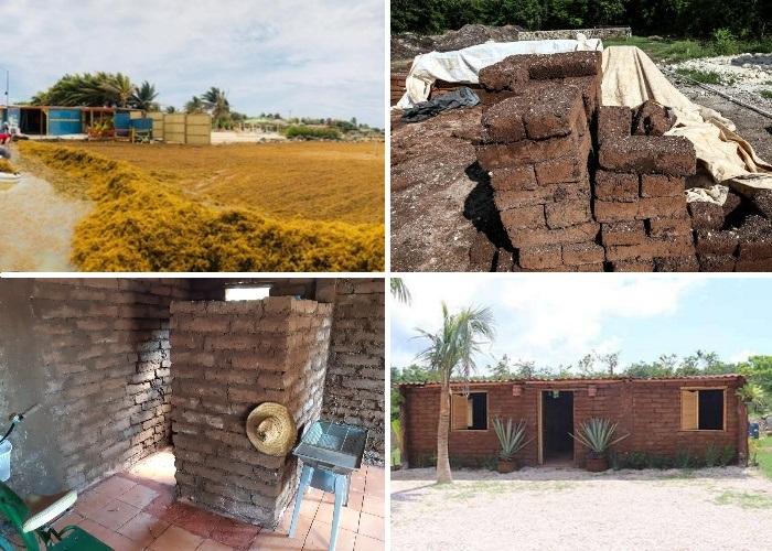 Весь процесс строительства дома из водорослевого самана занял 15 дней. | Фото: journal.homemania.ru.