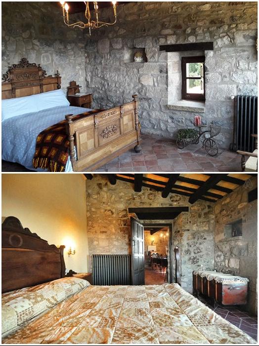 Все спальни замка-отеля оформлены в лучших традициях средневекового стиля («Castell de Llaes», Испания). | Фото: boredpanda.com, © Marc/Airbnb.