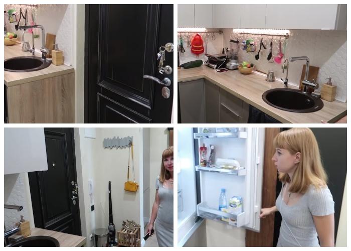 При разумной перепланировке и достаточной площади, кухню можно перенести в коридор.