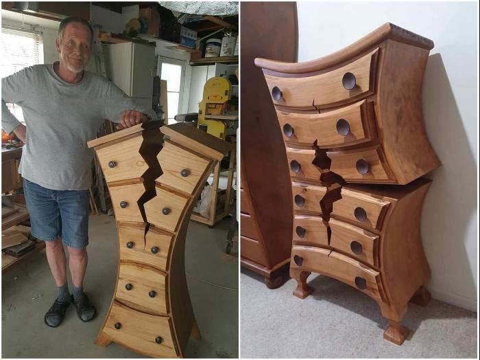 Краснодеревщик Хенк Верхофф прославился на весь мир благодаря своей странной мебели. | Фото: facebook.com/ © One Of A Kind Woodwork Creations By Henk.