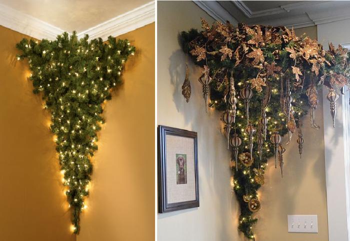 Креативные решения как пристроить угловую елку Home Heritage в особо крошечных помещениях.